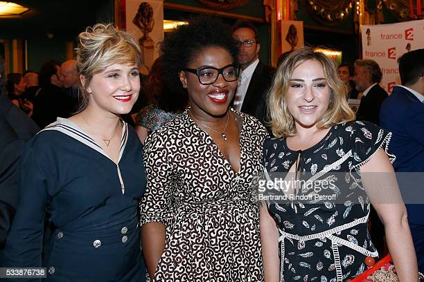Actresses Berengere Krief Claudia Tagbo and Marilou Berry attend 'La 28eme Nuit des Molieres' on May 23 2016 in Paris France