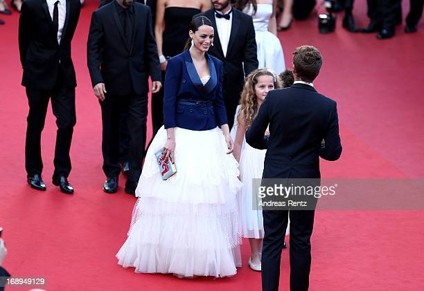 Actresses Berenice Bejo and Jeanne Jestin attend the Premiere of 'Le Passe' during The 66th Annual Cannes Film Festival at Palais des Festivals on...