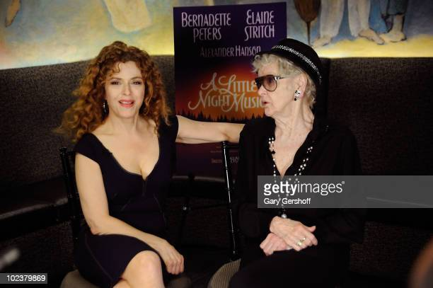 Actresses Bernadette Peters and Elaine Stritch join the cast of A Little Night Music at Cafe Carlyle on June 24 2010 in New York City