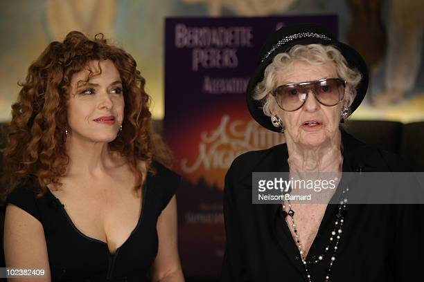 Actresses Bernadette Peters and Elaine Stritch join the cast of 'A Little Night Music' at Cafe Carlyle on June 24 2010 in New York City