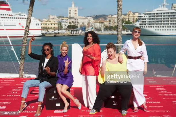 Actresses Berta Vazquez Maggie Civantos Laura Baena Itziar Castro and Najwa Nimri attend 'Vis a Vis' photocall during 21th MAlaga Film Festival on...