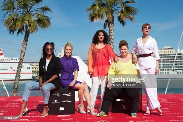 Actresses Berta Vazquez Maggie Civantos Laura Baena Itziar Castro and Najwa Nimri attend 'Vis a Vis' photocall during 21th MAlaga Film Festival on...