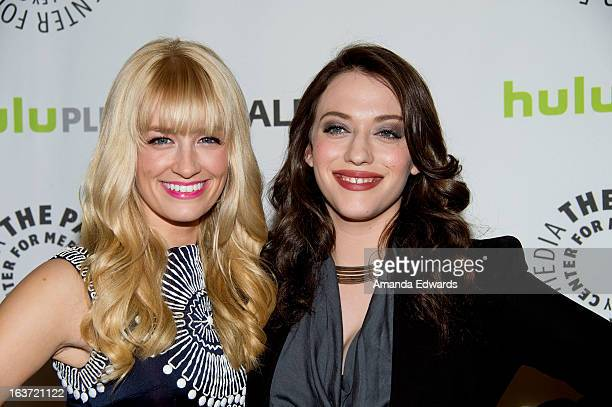 Actresses Beth Behrs and Kat Dennings arrive at the 30th Annual PaleyFest The William S Paley Television Festival featuring '2 Broke Girls' at the...
