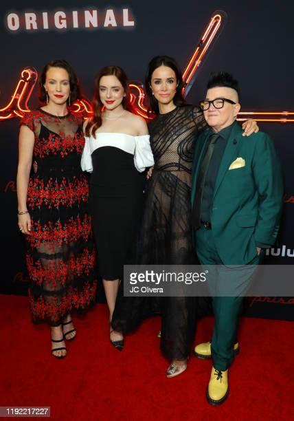 Actresses Bethany Anne Lind Madison Davenport Abigail Spencer and Lea DeLaria attend the premiere of Hulu's Reprisal Season One at ArcLight Cinemas...
