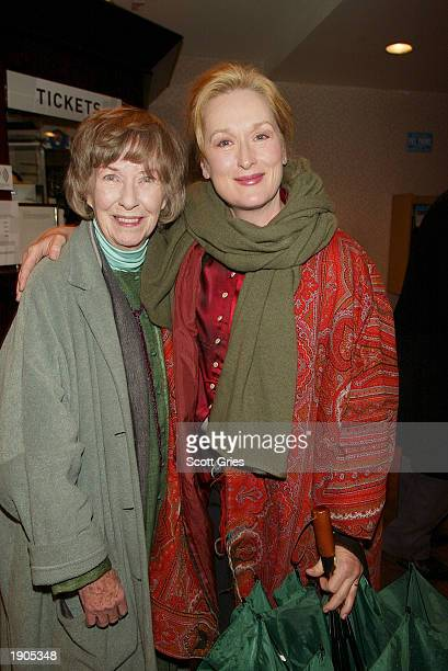 Actresses Betsy Blair and Meryl Streep attend a tribute and special screening of the late director Karel Reisz's first feature film Saturday Night...