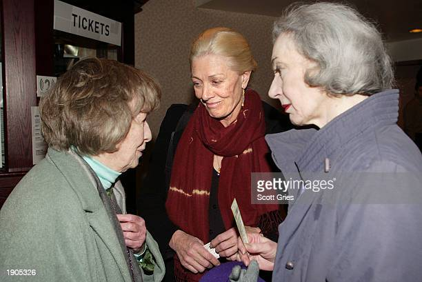 Actresses Betsy Blair Vanessa Redgrave and Marian Seldes attend a tribute and special screening of the late director Karel Reisz's first feature film...