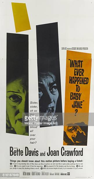 Actresses Bette Davis and Joan Crawford appear on a poster for the movie 'What Ever Happened to Baby Jane' 1962