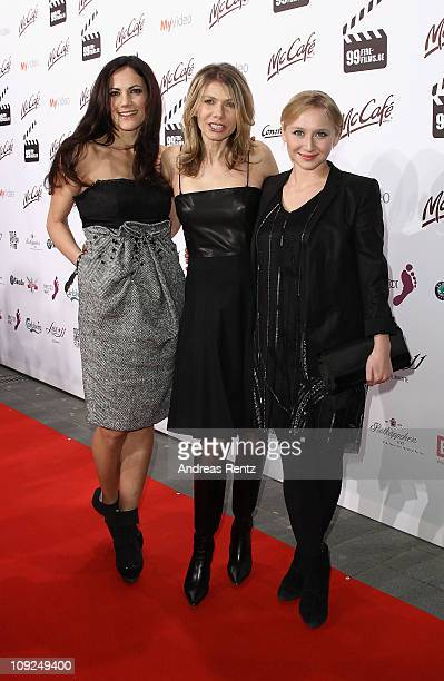 Actresses Bettina Zimmermann Ursula Karven and Anna Maria Muehe attend the 99Fire Films Award 2011 during day eight of the 61st Berlin International...