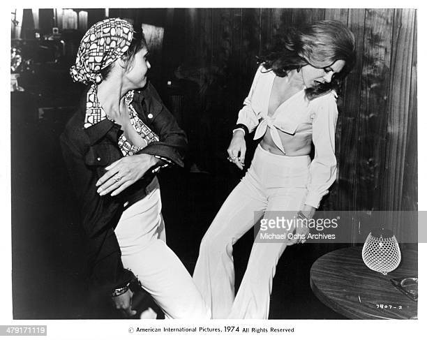 Actresses Betty Anne Rees and Marki Bey in a scene from the movie Sugar Hill circa 1974