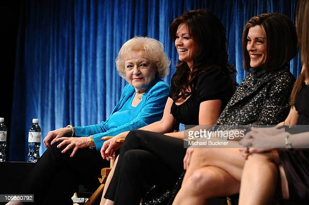 """Actresses Betty White, Valerie Bertinelli and Wendie Malick attend the Paley Center For Media's Paleyfest 2011 Event Honoring """"Hot In Cleveland"""" at..."""