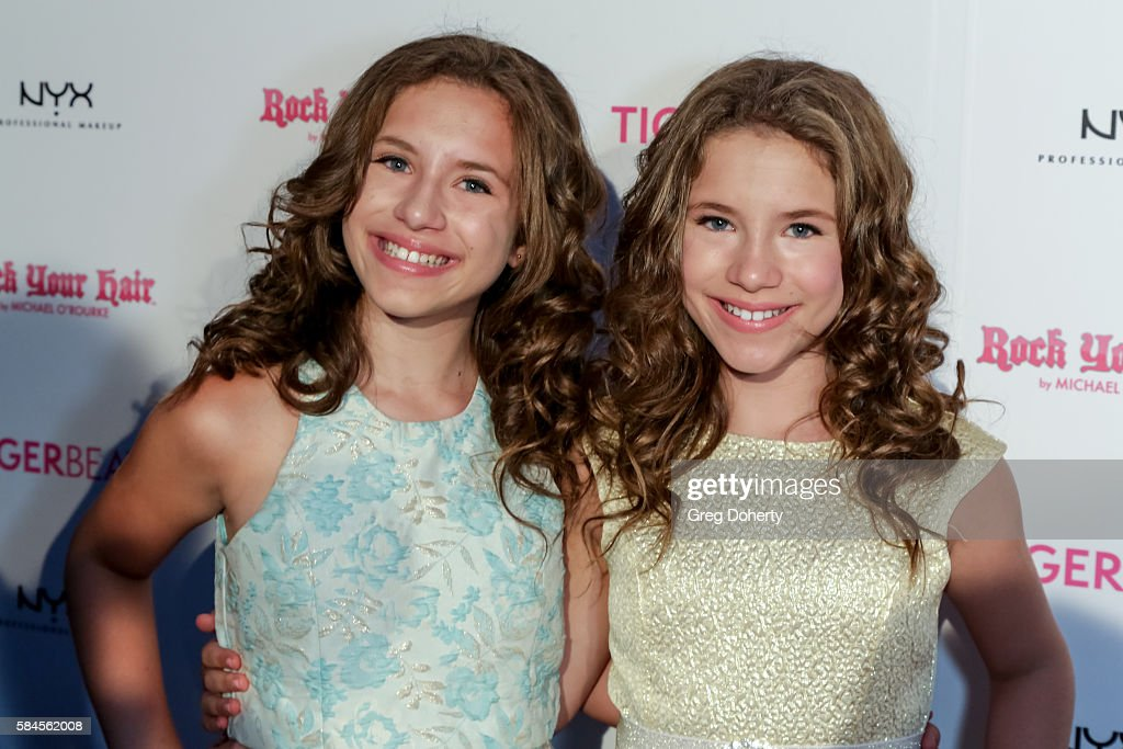 Actresses Bianca and Chiara D'ambrosio arrive at the Tiger Beat's Pre-Party Around FOX's Teen Choice Awards at HYDE Sunset: Kitchen + Cocktails on July 28, 2016 in West Hollywood, California.