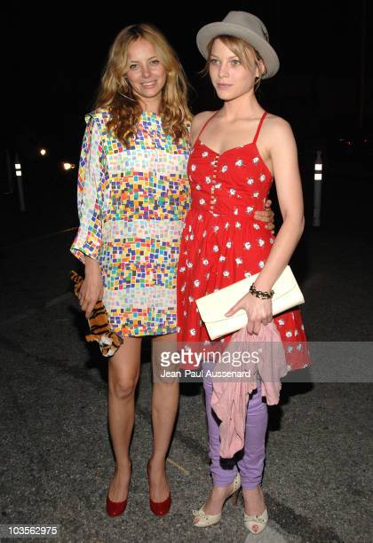 Actresses Bijou Phillips and Lauren German arrive at the Mercedes Benz Fashion Week Fall 2008 held at Smashbox Studios on March 9 2008 in 2008 in...