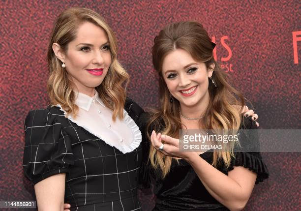 """Actresses Billie Lourd and Leslie Grossman arrive for 20th Century Fox Television/FX's """"American Horror Story: Apocalypse"""" FYC red carpet event at..."""