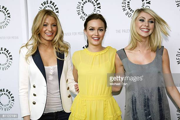 Actresses Blake Lively Leighton Meester and Taylor Momsen arrive at the 25th Annual Williams S Paley TV Festival featuring 'Gossip Girl' held at...