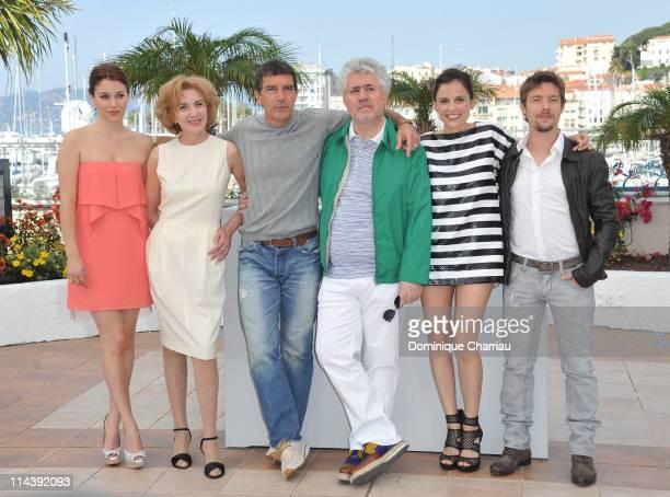 Actresses Blanca SuareMarisa Paredes actor Antonio Banderas director Pedro Almodovar actress Elena Anaya and actor Jan Cornet attend 'The Skin I Live...