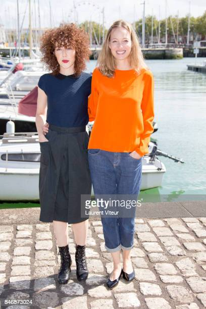 "Actresses Blandine Bellavoir and Elodie Frenck attend ""Petits Meutres d'Agatha Christie"" Photocall during 19th Festival Of TV Fiction on September..."