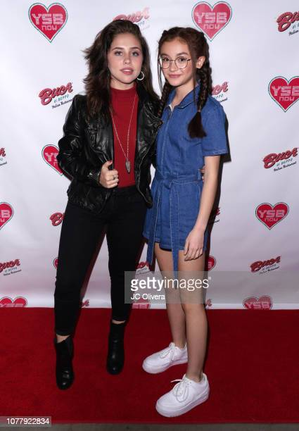 Actresses Brenna D'Amico and Anna Cathcart attend YSBNow Holiday Dinner and Toy Drive at Buca di Beppo CityWalk on December 05 2018 in Universal City...