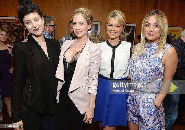 Actresses Briana Cuoco Ashley Jones Ali Fedotowsky and Kaley Cuoco attend the afterparty for AFI And Sony Picture Classics' Hosts The Premiere Of...
