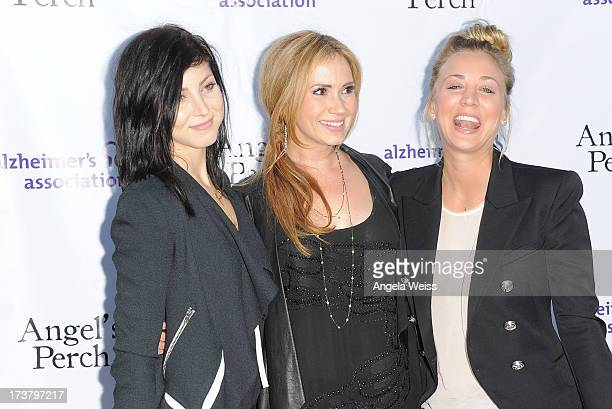 Actresses Briana Cuoco Ashley Jones and Kaley Cuoco arrive at the 'Angel's Perch' West Coast Premiere at Laemmle's Royal Theatre on July 17 2013 in...