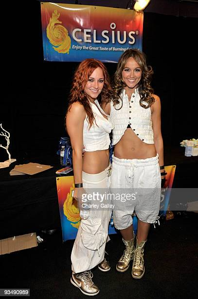Actresses Briana Evigan and Sharni Vinson attend the Dizzy Feet Foundation's Inaugural Celebration of Dance at The Kodak Theater on November 29 2009...