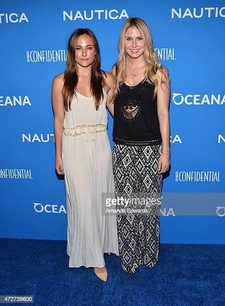 Actresses Briana Evigan and Vanessa Lee Evigan arrive at the 3rd Annual Nautica Oceana Beach House Party at the Marion Davies Guest House on May 8...