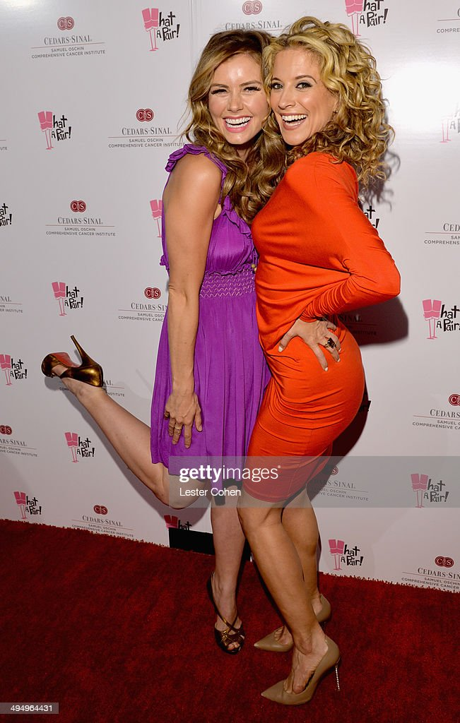 Actresses Brianna Brown and Alexis Carra attended the What A Pair