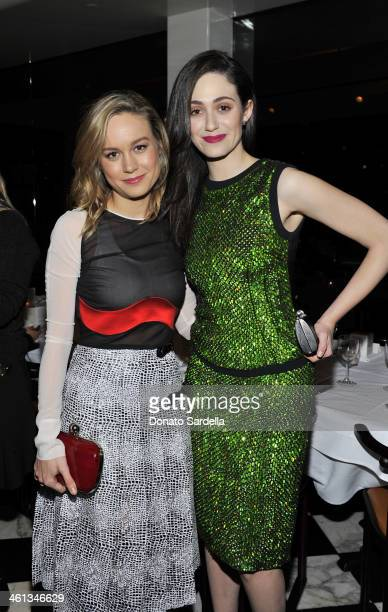 Actresses Brie Larson and Emmy Rossum attend Private Antonio Berardi dinner on January 7 2014 in Beverly Hills California