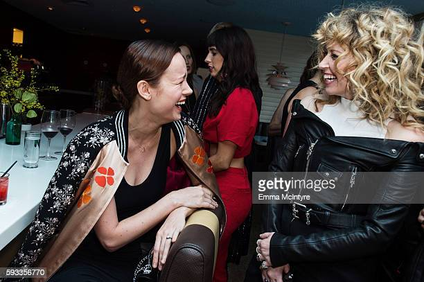 Actresses Brie Larson and Natasha Lyonne attend the Women of Cinefamily weekend closing party at The Standard Hollywood on August 21 2016 in West...