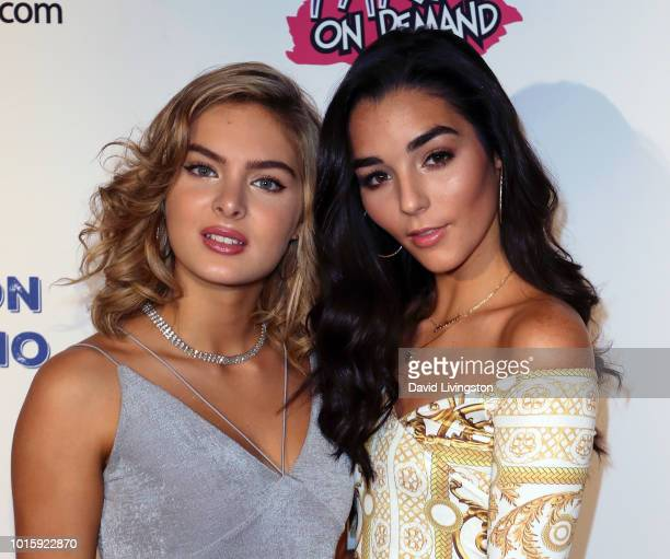 Actresses Brighton Sharbino and Indiana Massara attend Indiana Massara and Brighton Sharbino birthday party on August 12 2018 in Sherman Oaks...