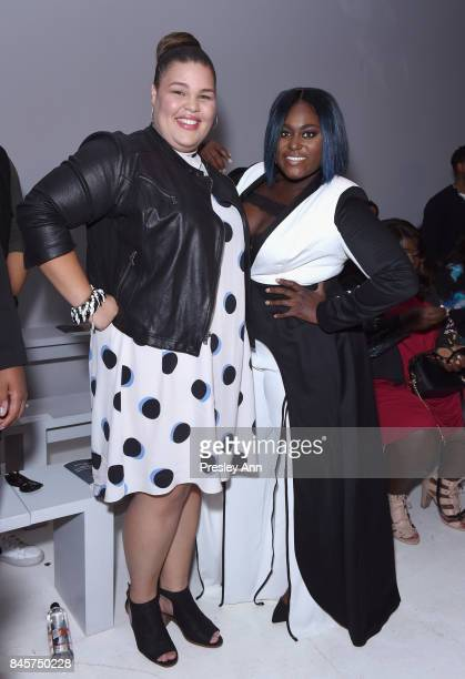 Actresses Britney Young and Danielle Brooks attend the ADDITION ELLE NYFW September 2017 Runway Presentation on September 11 2017 in New York City