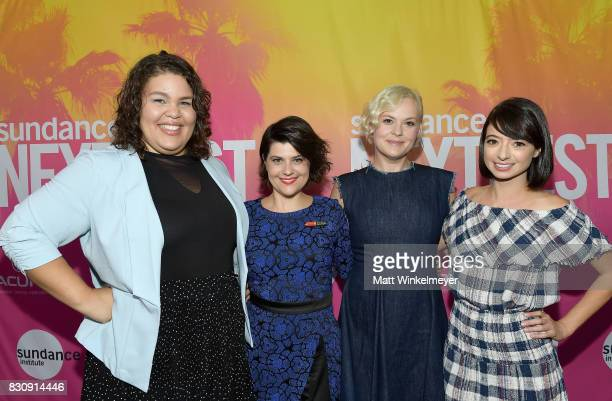 Actresses Britney Young Rebekka Johnson Kimmy Gatewood and Kate Micucci attends 2017 Sundance NEXT FEST at The Theater at The Ace Hotel on August 12...