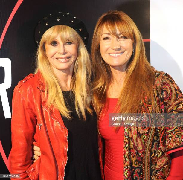 Actresses Britt Ekland and Jane Seymour arrive for the Premiere Of And The Winner Isn't at Laemmle Music Hall on December 8 2017 in Beverly Hills...