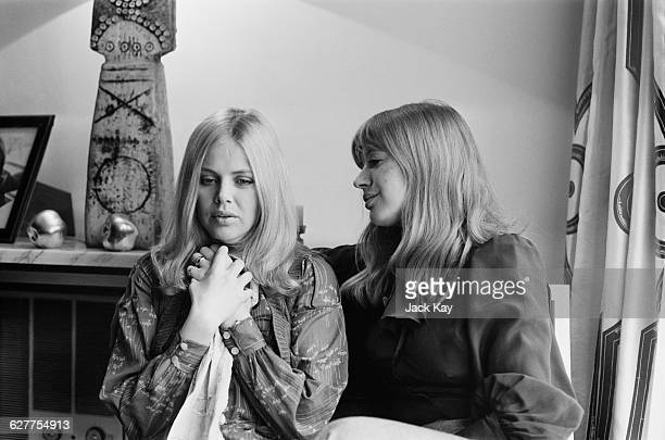 Actresses Britt Ekland and Marianne Faithfull 14th April 1971