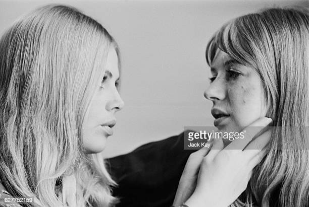 Actresses Britt Ekland and Marianne Faithfull 20th April 1971