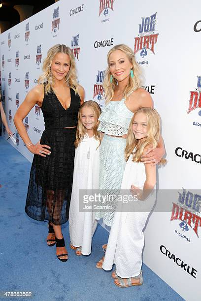 Actresses Brittany Daniel Allison Gobuzzi Cynthia Daniel and Lauren Gobuzzi attend the world premiere of Crackle's Joe Dirt 2 Beautiful Loser at Sony...