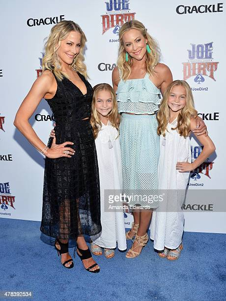 Actresses Brittany Daniel Allison Gobuzzi Cynthia Daniel and Lauren Gobuzzi arrive at the world premiere of Joe Dirt 2 Beautiful Loser hosted by...