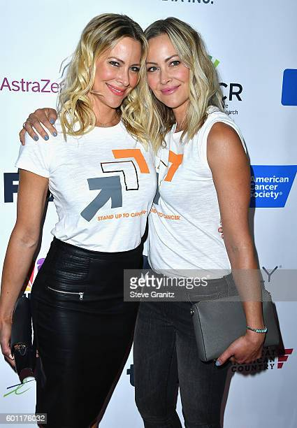 Actresses Brittany Daniel and Cynthia Daniel attend Stand Up To Cancer 2016 at Walt Disney Concert Hall on September 9 2016 in Los Angeles California
