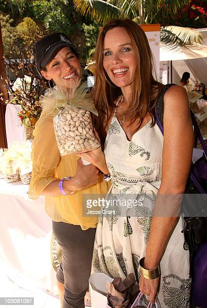 Actresses Brooke Langton and Sarah Buxton attend the Kari Feinstein Emmy Style Lounge at a private residence on September 19 2008 in Los Angeles...
