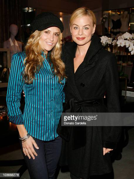 Actresses Brooke Mueller and Jessica Collins during the Kiki De Montparnasse store opening at Kiki De Montparnasse on December 3, 2007 in Los...