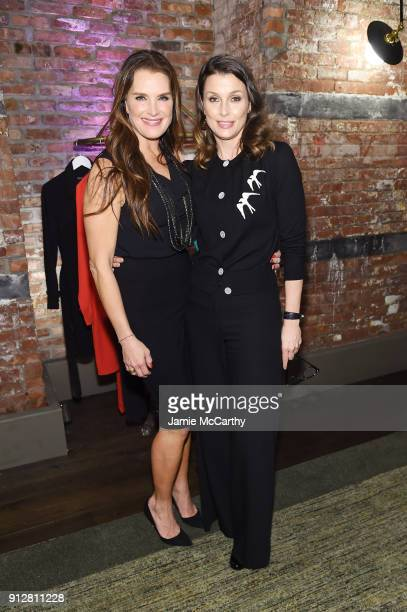 Actresses Brooke Shields and Bridget Moynahan attend the Brooke Shields Timeless QVC launch at the Beekman Hotel on January 31 2018 in New York City