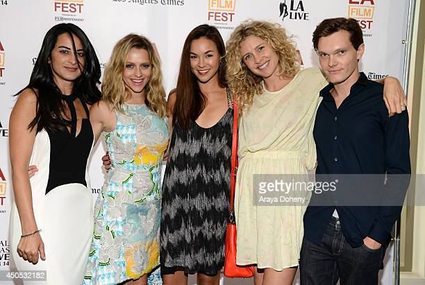"""Actresses Brooke Stone, Teresa Palmer, Gemma Pranita, Amber L'estrange and Luke Baines attend """"The Ever After"""" premiere during the 2014 Los Angeles..."""