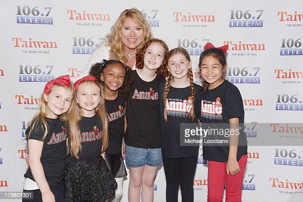Actresses Brooklyn Shuck Emily Rosenfeld Tyrah Skye Odoms Delilah of 1067 and actresses Taylor Richardson Gaby Bradbury and Amaya Braganza of Annie...