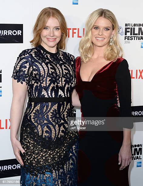 Actresses Bryce Dallas Howard and Alice Eve attends the LFF Connects Television 'Black Mirror' screening during the 60th BFI London Film Festival at...