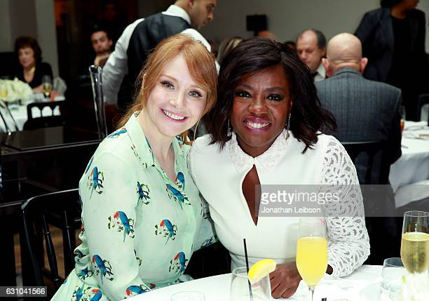Actresses Bryce Dallas Howard and Viola Davis attend the Viola Davis Walk Of Fame Ceremony Luncheon at Spago on January 5 2017 in Hollywood California