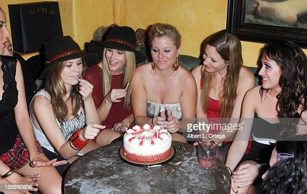 Actresses Burgandi Phoenix, Augie Duke, Chanel Ryan, Noel Thurman, Jessica Sonneborn and Devanny Pinn participate in Chanel Ryan's Birthday Party...