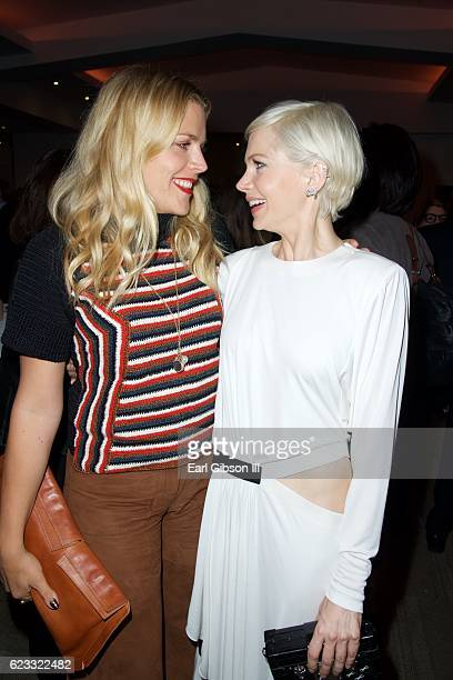Actresses Busy Phillips and Michelle Williams attend the Premiere Of Amazon Studios 'Manchester By The Sea' on November 14 2016 in Beverly Hills...