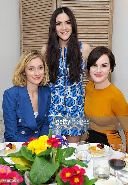 Actresses Caitlin Fitzgerald Isabelle Fuhrman and Michelle Dockery attend LOVEGOLD Luncheon celebrating Michelle Dockery at Chateau Marmont on...