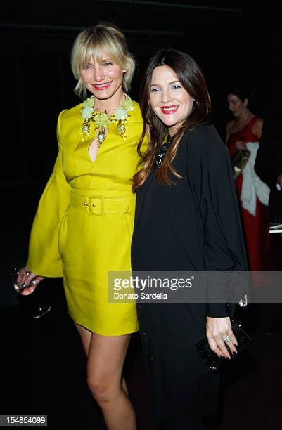 Actresses Cameron Diaz and Drew Barrymore attends LACMA 2012 Art Film Gala Honoring Ed Ruscha and Stanley Kubrick presented by Gucci at LACMA on...