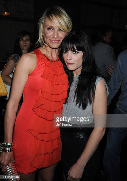 Actresses Cameron Diaz and Selma Blair attend Spike TV's 2nd Annual 'Guys Choice' Awards at Sony Studios on May 30 2008 in Culver City California