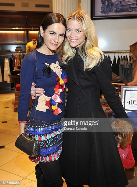 Actresses Camilla Belle and Jaime King attend Brooks Brothers holiday celebration with St Jude Children's Research Hospital on December 3 2016 in...